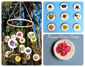 Twig and Toadstool: Pressed Flower Mobile Put a magnet on the back for great gifts instead of a mobile!