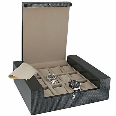 High Quality 12 Watch Box with Carbon Fibre Veneer  Fortis Collection by Aevitas *    * About Us  * Payment  * Delivery  * Returns  * Contact Us  Show Menu * Watch Boxes  * Watch Winders  * Jewellery Boxes  * Stackers  * Gifts For Him  * Gifts For Her  * Other Items   *   *   *   *    *   *   *   *   HIGH QUALITY 12 WATCH BOX WITH CARBON FIBRE VENEER FORTIS COLLECTION BY AEVITAS Product Details:  These are some of the best watch boxes we have for Quality, Design and Value. The Fortis…