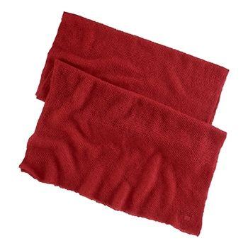 Ralph Lauren Women's Red Mohair Blend Shawl Wrap Scarf