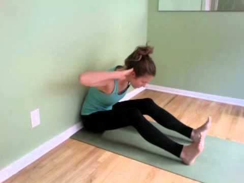 Beginner Pilates Exercise For Perfect Posture- Core Spine Stretch - YouTube