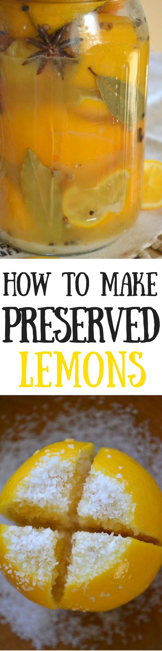 Preserved Lemons is a unique condiment that brightens up lots of Middle Eastern recipes but can be hard to find in stores ~ I'll show you how to make preserved lemons right at home, it's easy!