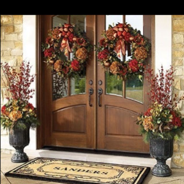Exterior Front Door Fall Decorations: 64 Best Images About Double Doors On Pinterest