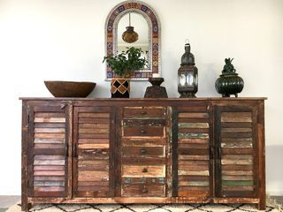 Large Recycled Shutter Sideboard