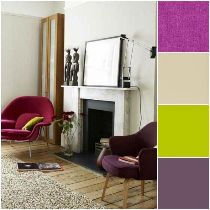 pantone color of the year 2014 radiant orchid decor - Magenta Apartment 2015