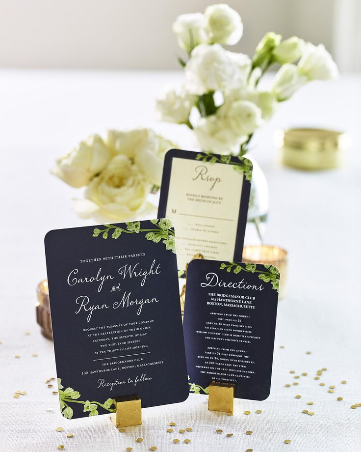 Browse a new line of wedding invitations