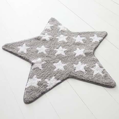 Featuring white stars on a grey background, this Disney star rug is crafted from pure cotton offering a soft place for your baby to sit and play in their nursery.
