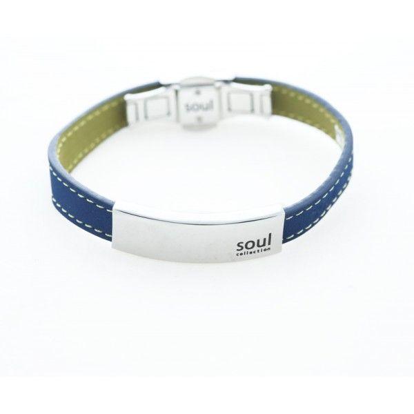 Men`s stainless steel and double coloured (blue and green) leather ID bracelet--------------Ανδρικό βραχιόλι ταυτότητα από ανοξείδωτο ατσάλι και δέρμα, Το εξωτερικό χρώμα του δέρματος είναι μπλε και το εσωτερικό πράσινο.