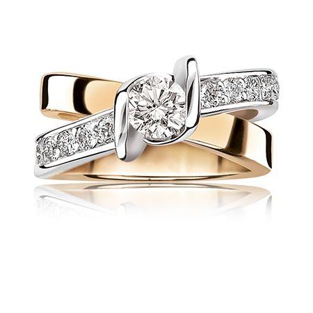 Sirena 14K White & Yellow Gold 1ct. Brilliant-Cut Diamond Engagement Ring