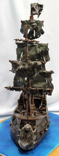 El Laboratorio de las Tartas: Tartas Decoradas Madrid: Tarta Piratas del Caribe : La Perla Negra - Pirates of the Caribbean Black Pearl cake...