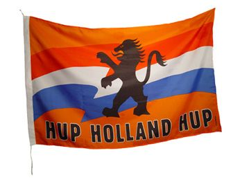 Hup Holland hup!Flag from the soccer and iceskating fans.