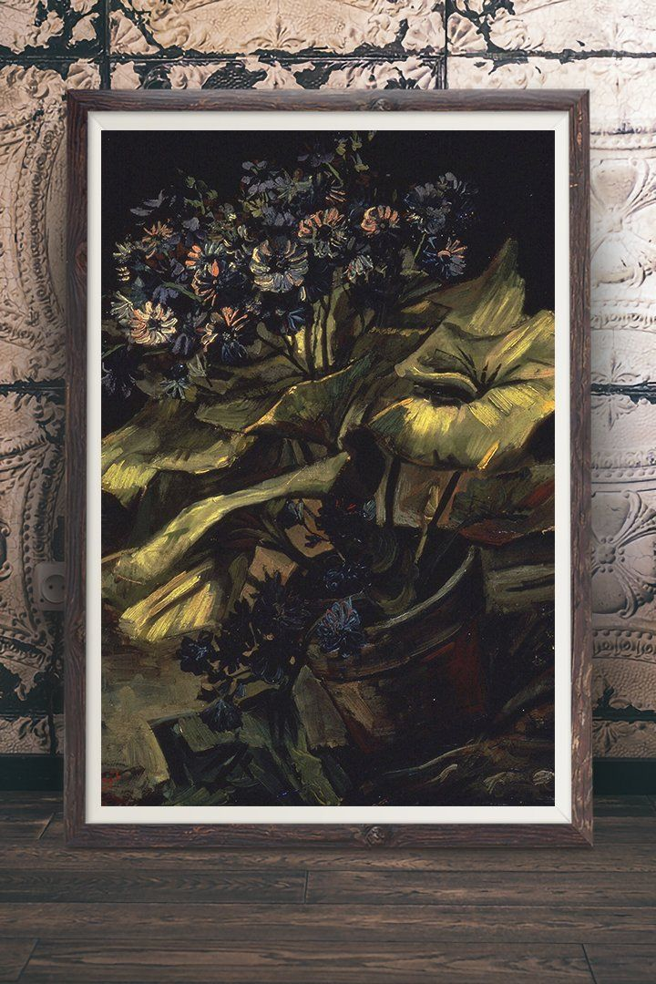 Cineraria Painting By Vincent Van Gogh Vintage Wall Art Print At Retrograde Ink We Make Our Vin Floral Prints Art Botanical Artwork Vintage Wall Art Prints