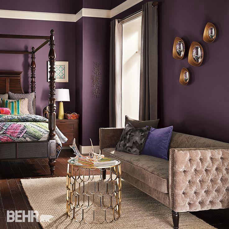 Plum paint color schemes best 20 walls ideas on purple ...