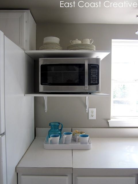 25 best ideas about microwave cart on pinterest small kitchen cart microwave storage and - Small space microwave photos ...