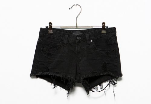 Black jeans shorts. I WANT THESE....