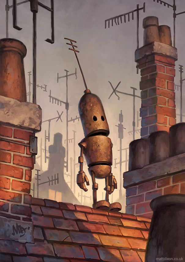 Les robots solitaires de Matt Dixon  Dessein de dessin
