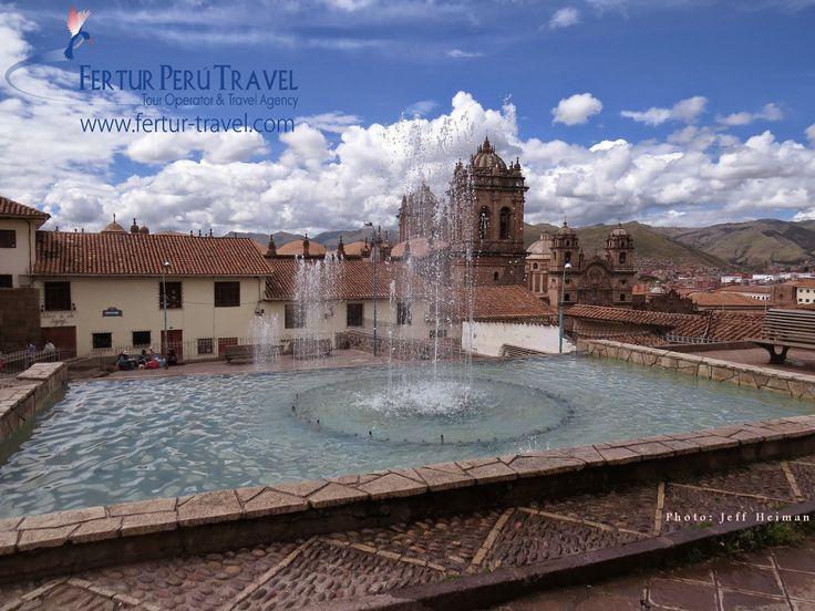 The Plazoleta de San Blas, the heart of the artisan quarter in Cusco, Peru