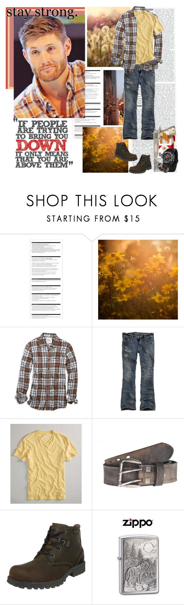 """""""``the world is a cruel and harsh place"""" by mars-phoenix ❤ liked on Polyvore featuring Arche, American Eagle Outfitters, Skechers, MTM Special Ops and Zippo"""