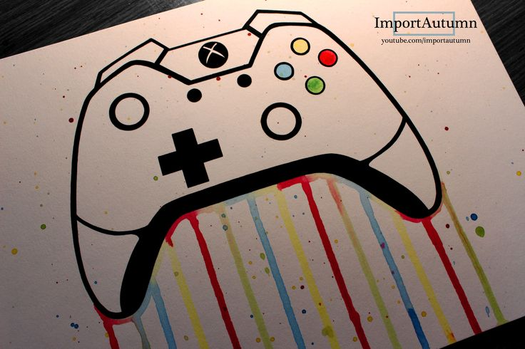 D Line Drawings Xbox : Drawing an xbox one remote controller watch me draw it on