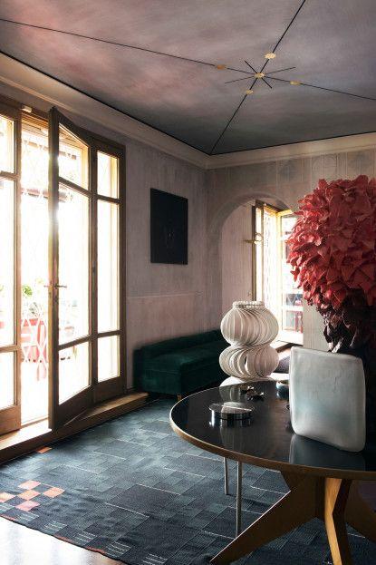 Gallerist Nina Yashar's residence in Milan.
