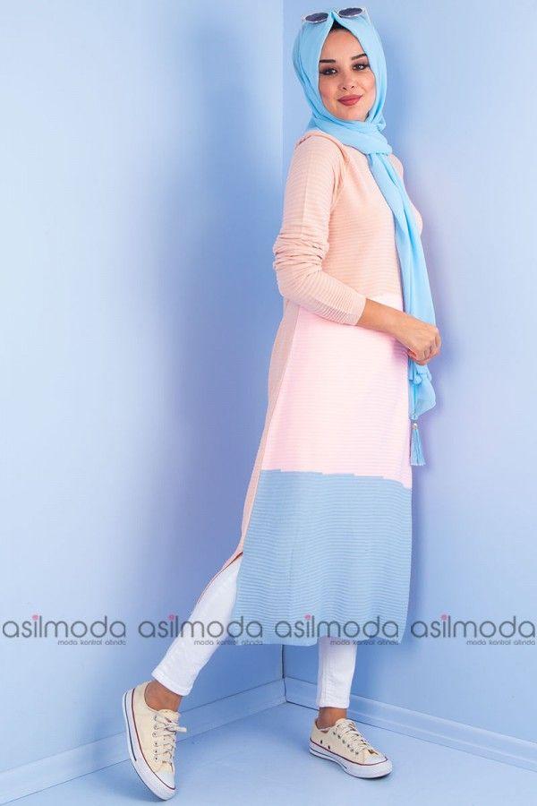 439cc636e63a6 asilmoda com adlı kullanıcının Triko tunik / tunik panosundaki Pin | Fashion