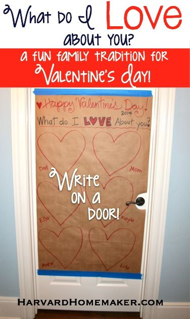 What Do I Love About You… A Fun Family Tradition on Valentine's Day by Harvard Homemaker