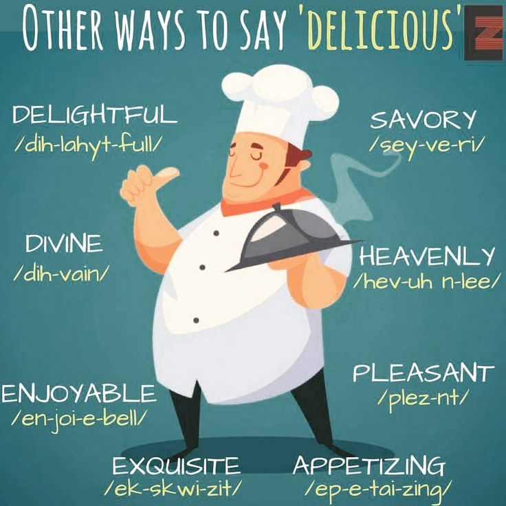 "Other ways to say ""Delicious"""
