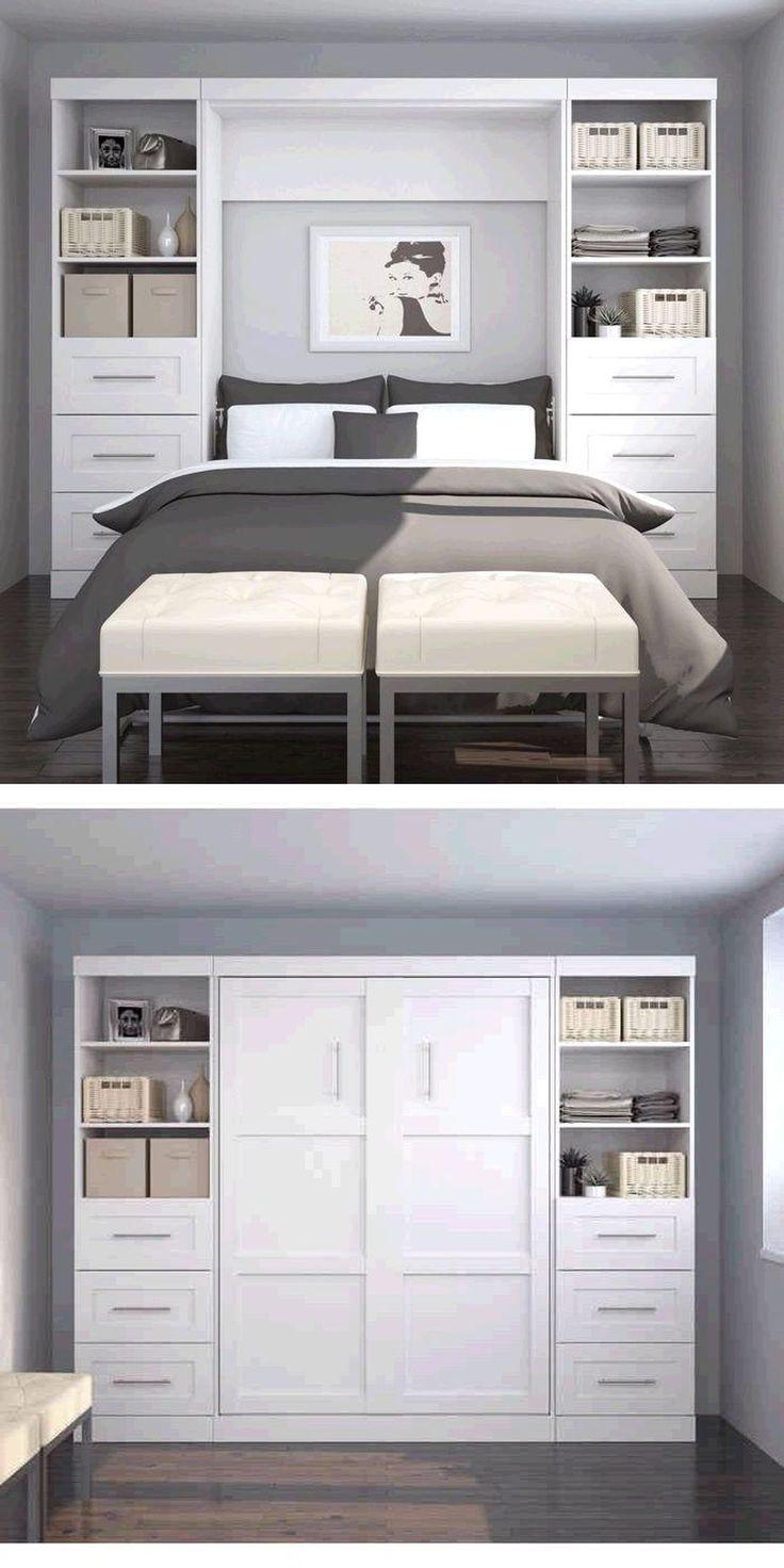 easy diy bedroom storage for small space 19 - Kleine Schlafzimmerideen Mit Lagerung