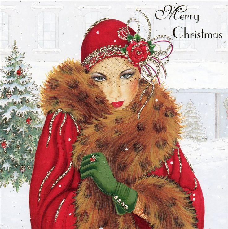 Art Deco Christmas Card Art Deco Art Nouveau Beauty t