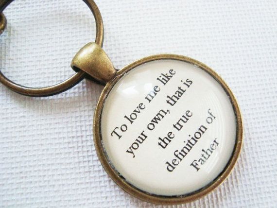 To love me like your own that is the true definition of Father by SweetlySpokenJewelry, $27.00