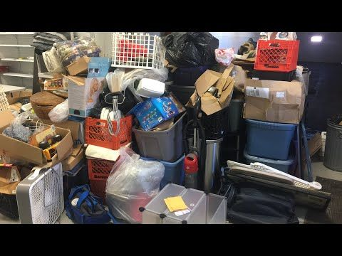 $5 storage auction - live unboxing of my 1/31/18 storage unit (part one) - YouTube