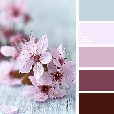 васильковый, контрастное сочетание розового и малинового, лавандовый, лиловый цвет, малиновый, насыщенный голубой, оттенки розового, оттенки цвета фуксии, оттенки цветов вишни, пастельно-розовый, пастельный синий, подбор цвета, светлый и