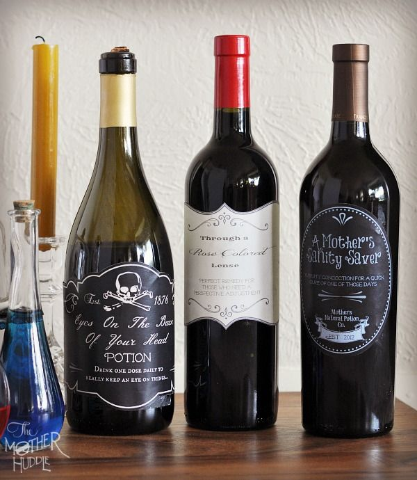 Printable Wine Bottle Labels: Free Bottle Labels Perfect For A #Halloween Hostess Gift