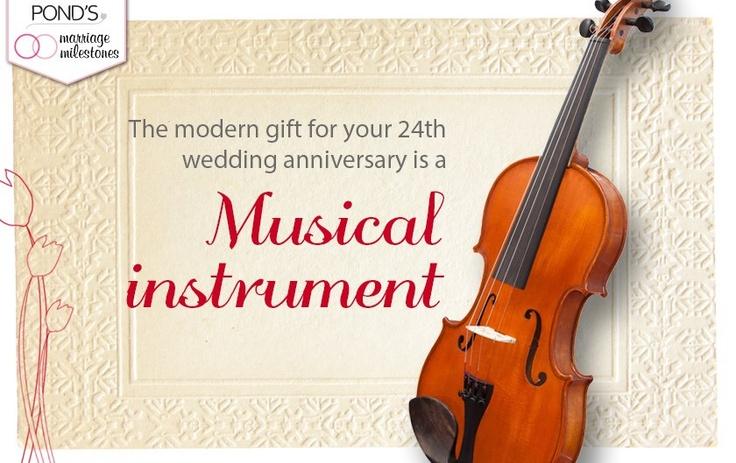 Twentyfourth Wedding Anniversary Modern gift