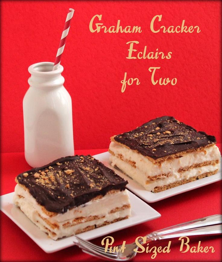 Graham Cracker Eclair Cake for Two on MyRecipeMagic.com