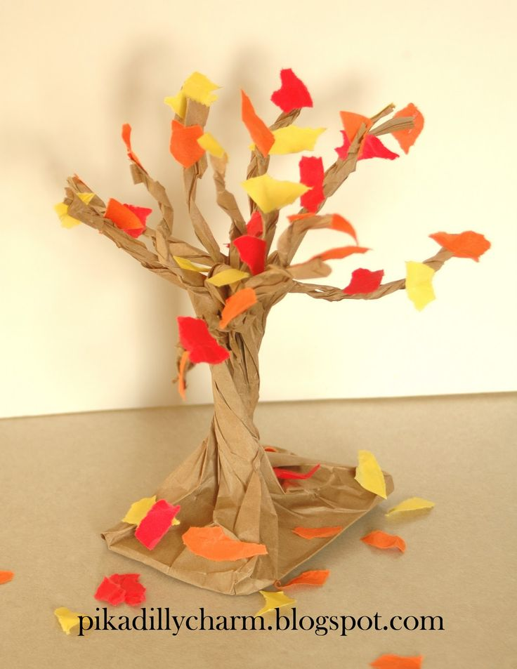 Paper Craft: Fall Tree. Did this for Fall Fest at school for 1st graders and they turned out really cute!