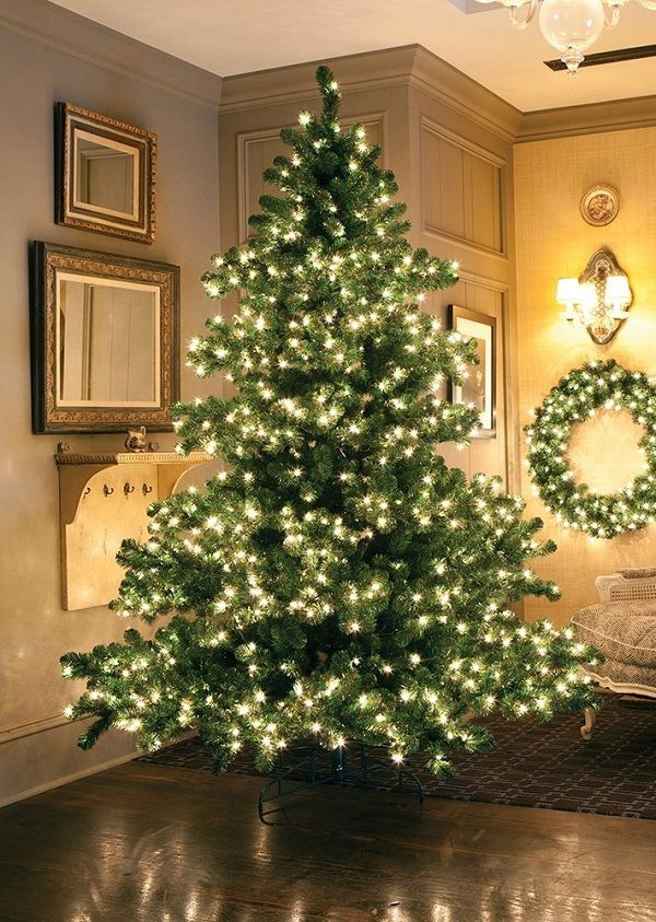 75ft pre lit middleton full layered artificial christmas tree with clear lights best - Artificial Christmas Trees With Lights