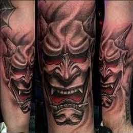 Hannya mask tattoo designs
