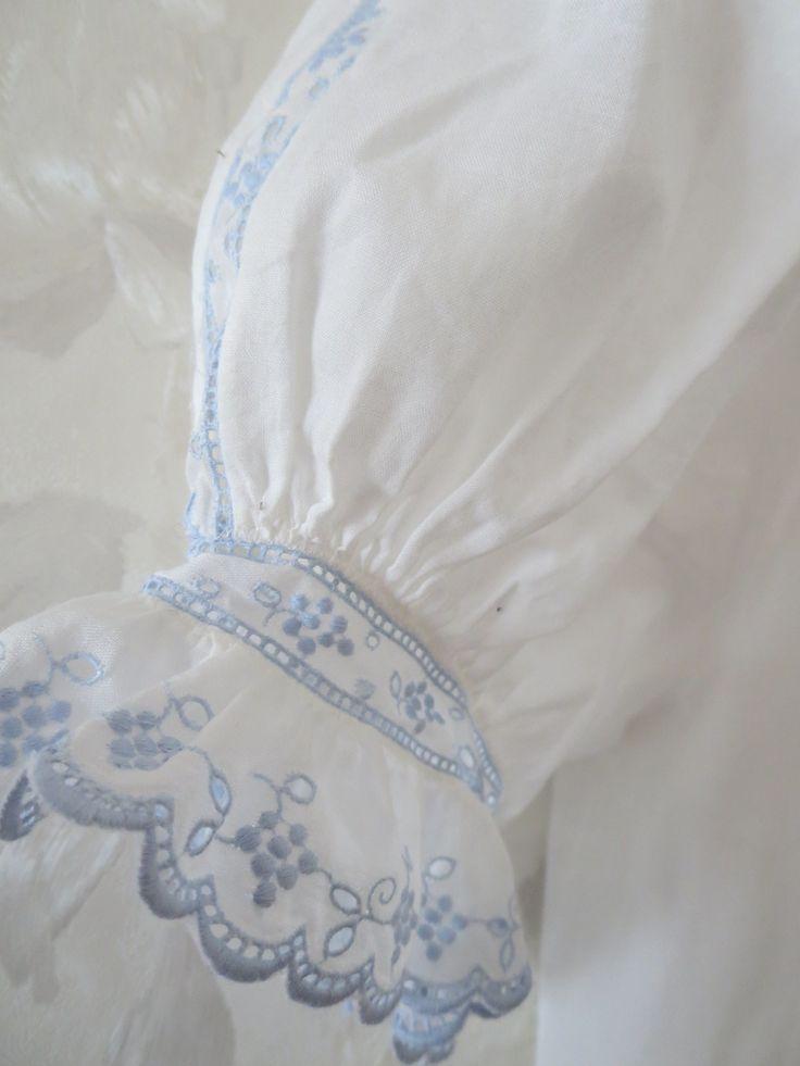 Pretty blue swiss embroidery - Google Image