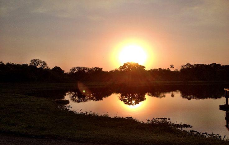 Pôr do sol em Ibiuna/SP
