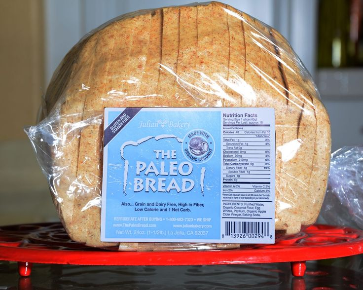 Paleo Bread™ -Coconut (1 Carb): Low Calories, Bakeries, Dairy Free, Whole Food, Soy Free, Grains Free, Gluten Free, Paleo Breads, Coconut Flour