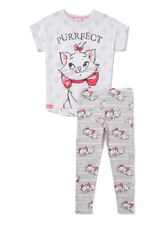 dd5844e758 Multicoloured Disney Aristocats Marie Pyjamas (2-10 years) from Tu at  Sainsbury s ! Your Online Shop for Girl s Pyjamas   Nightwear