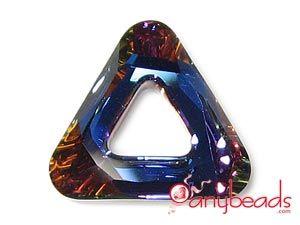 Volcano - Austrian Swarovski Crystal Elements 4737 Triangle Pendant 20mm