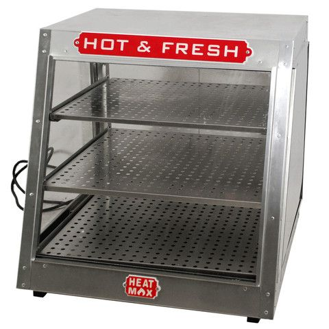 Commercial 24 x 24 x 24 Countertop Food Pizza Pastry Warmer Slant Display