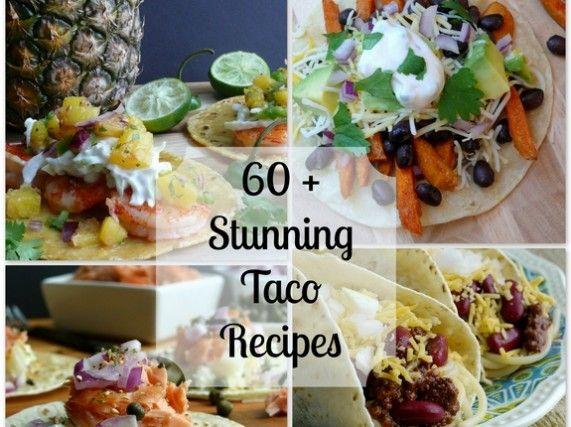 60+ Stunning Taco Recipes from NoblePig.com    #tacorecipes #tacos