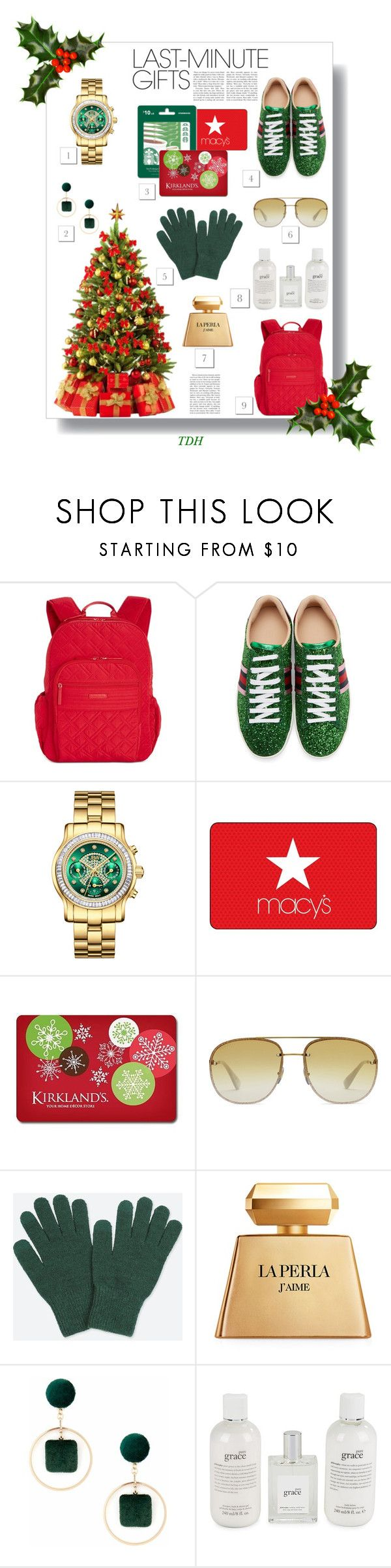 """""""#PolyPresents: Last-Minute Gifts"""" by talvadh ❤ liked on Polyvore featuring Vera Bradley, Gucci, JBW, Uniqlo, La Perla, Sole Society, philosophy, Christmas, gifts and contestentry"""