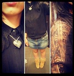 Grimilde Grimm - Cuore #outfit #ootd #skirt #girl #shirt #fashion #moda #necklace #style