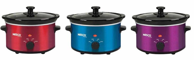 Chose your favorite color and start making slow cooked meals with this Nesco 1.5 quart slow cooker! http://www.veggiesensations.com/collections/rice-cookers-and-slow-cookers/products/nesco-1-5-quart-slow-cooker