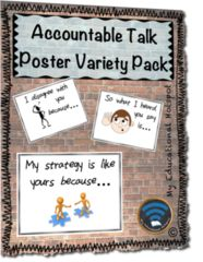 Take you conversations to the next level with these posters!! Enter for your chance to win 1 of 10. Accountable Talk Poster Set (w/ personal student reference sheets)  (10 pages) from My Educational Hotspot on TeachersNotebook.com (Ends on on 03-08-2018) Give our page a follow, and check out these awesome posters. Good luck all!.