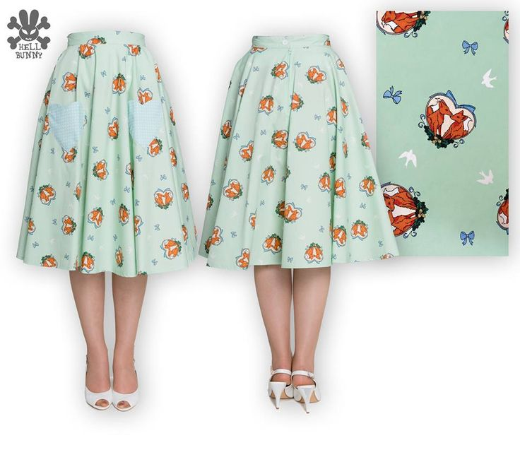 Foxy Skirt (comes in mint and pink)