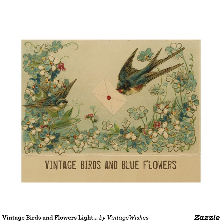 Vintage Birds and Flowers Light Yellow Wood Wall Art - #vintagewishes #windywinters #zazzle